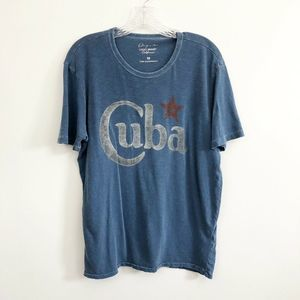 Lucky Brand Faded Blue Graphic T-Shirt - Size M
